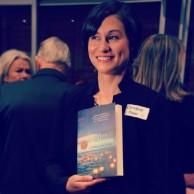 Christine Piper with her Vogel's Award winning novel After Darkness