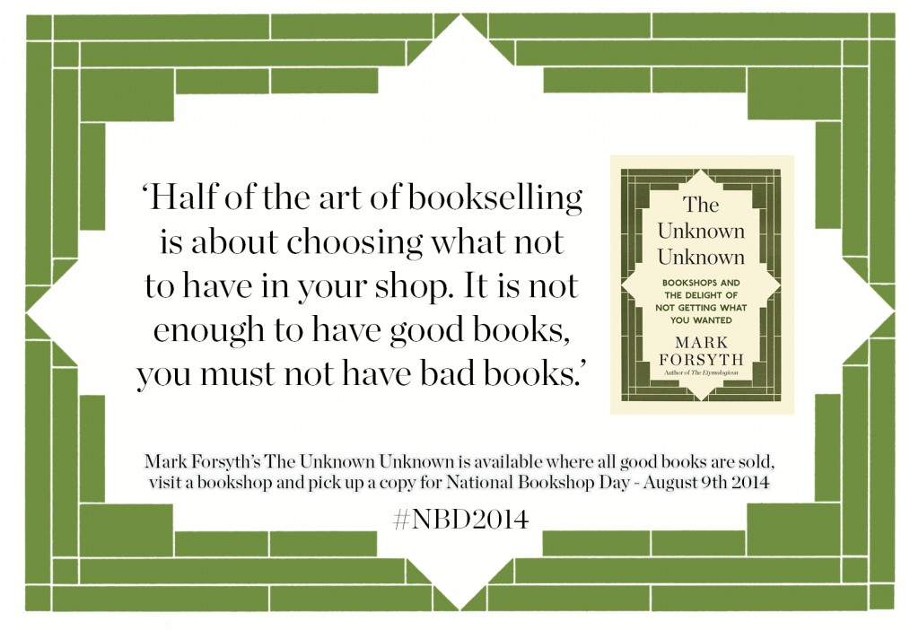 Mark Forsyth on the art of Bookselling
