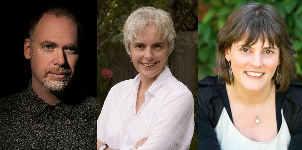 Scott Westfield (photo A. Fischer), Margo Lanagan & Deborah Biancotti