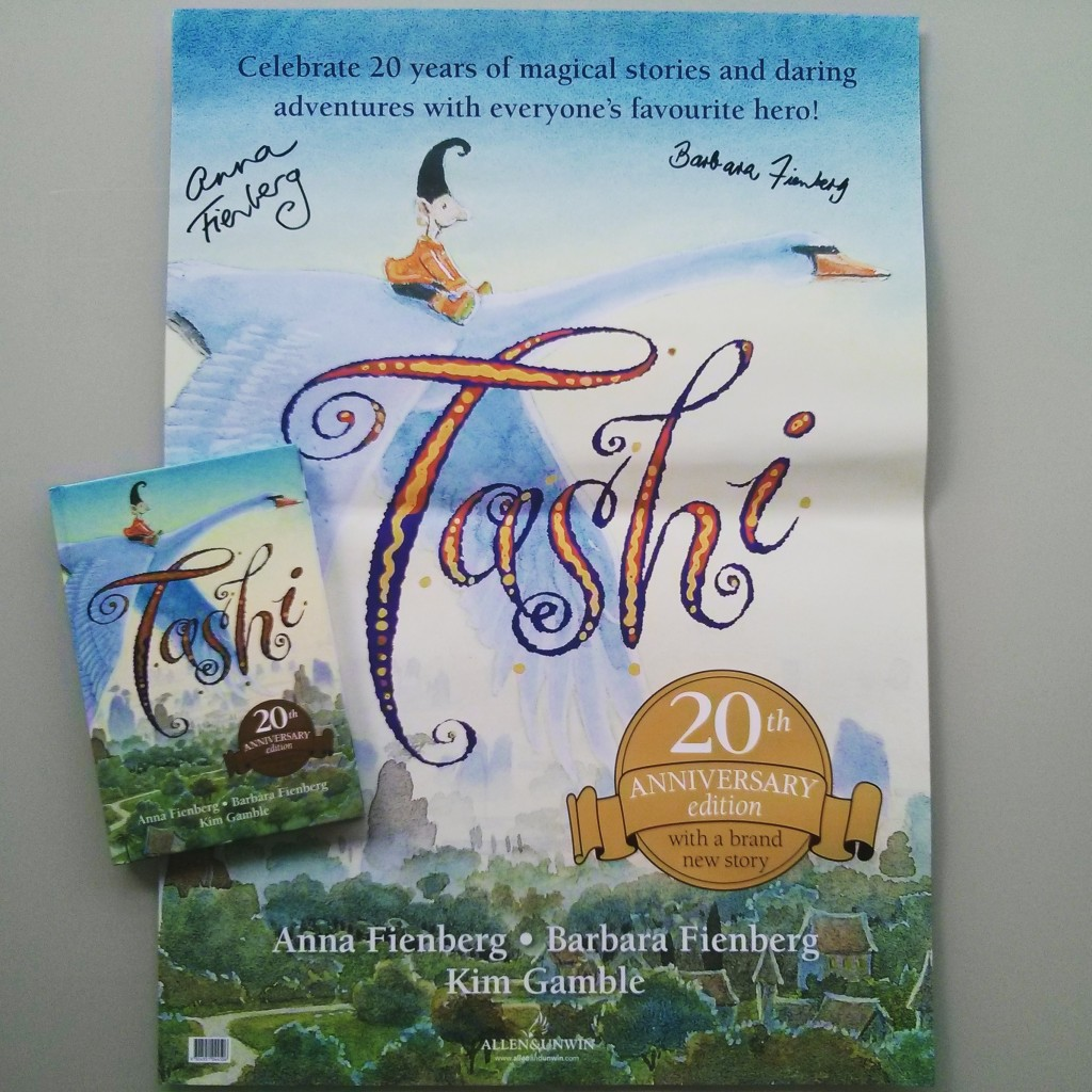 Signed Tashi poster along with a signed copy of the gorgeous new book!