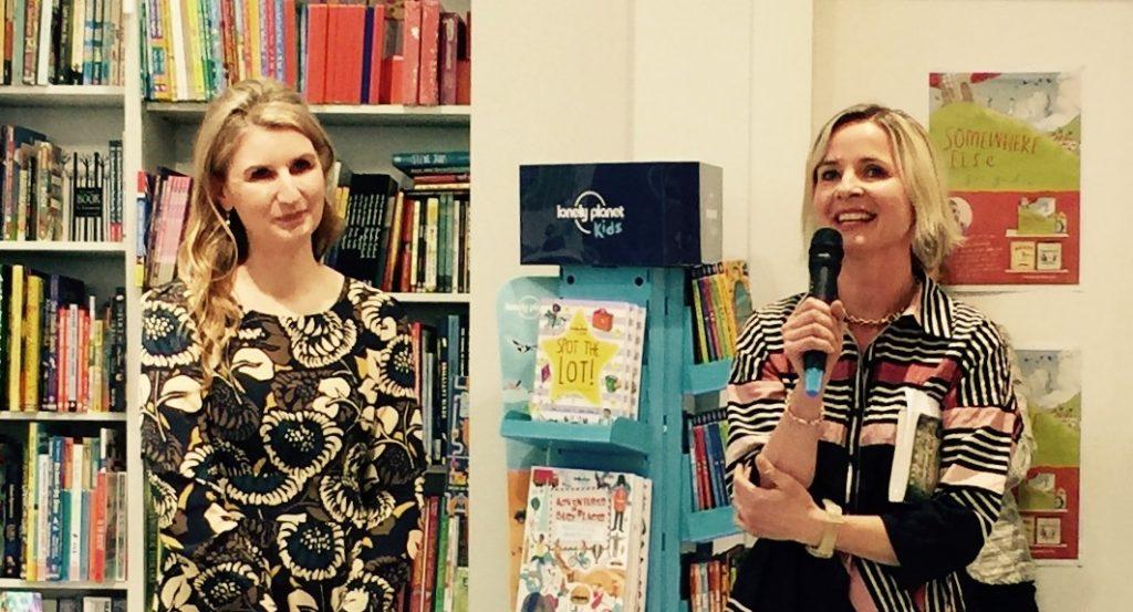 Sofie Laguna launches Kim Kane's When the Lyrebird Calls, photo courtesy of Kim Kane